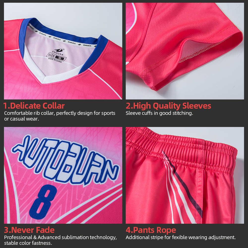 Volleybal Pak Wedstrijd Team Uniform Naam En Nummer Custom Jersey Professionele Volleybal Uniform Ventilatie Trainingspak
