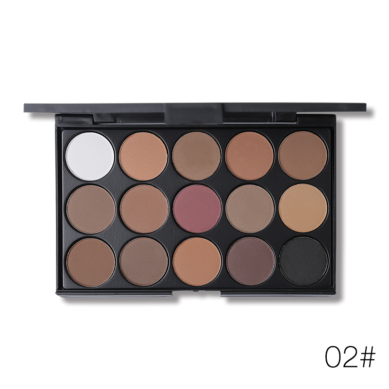 UCANBE Brand 15 Colors Matte Shimmer Eyeshadow Makeup Palette Long Lasting Natural Eye Shadow Cosmetics Kit Nude Make Up in Eye Shadow from Beauty Health
