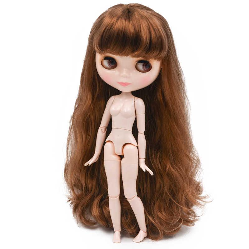 Blyth Boneca BJD, Boneca Blyth Neo Fosco Rosto Bonecas Pode Mudado de Maquiagem e Vestido Nude Personalizado DIY, 1/6 Bola Bonecos Articulados