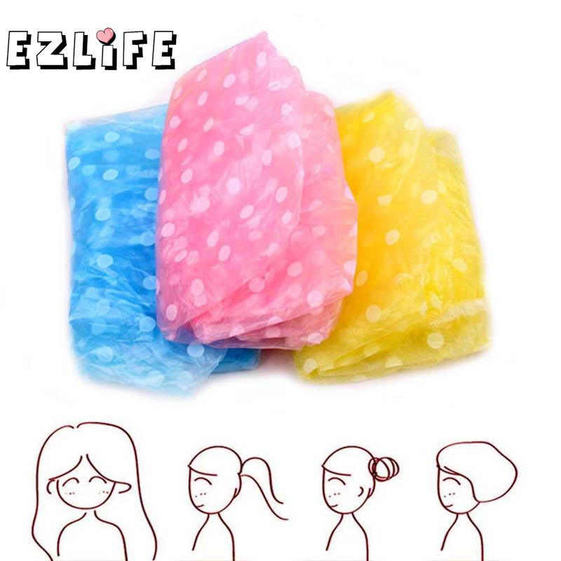 1Pc Or 3 Pcs Disposable Shower Hair Cap Stretchy Bath Accessories Hat Bathroom W2I4