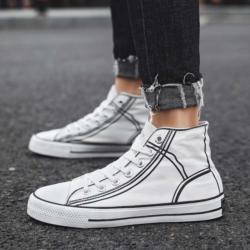 Sapatos de skate para homem clássico unisex lona alta superior sneaksers esportes ao ar livre das mulheres homem
