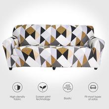 Streç kanepe mobilya koruyucu kapakları Polyester Loveseat kanepe kılıfı l 1/2/3/4 kişilik kol sandalye kılıfı oturma odası