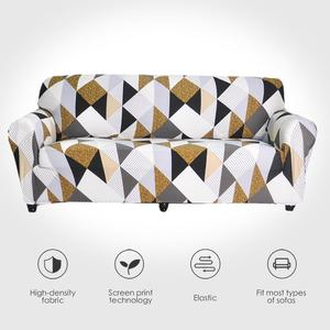Image 1 - Stretch Sofa Covers Meubels Protector Polyester Loveseat Couch Cover L 1/2/3/4 Zits Arm Stoel Cover voor Woonkamer
