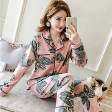 2021 autumn women pajamas sets cotton fresh style sleepwear