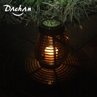 LED Waterproof Solar Powered Candle Lantern Street Lamp Rattan Light for Garden Yard Outdoor Tree led lights Decoration