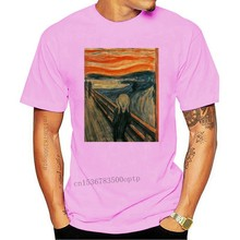 "Edvard Munch "" The Scream "" Famous Painting T Shirt Harajuku Funny Youth Tee Shirts"