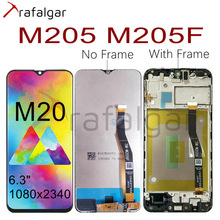 For SAMSUNG GALAXY M20 LCD Display M205 M205F/DS M205FN/DS M205G Touch Screen Digitizer Assembly For SAMSUNG M20 LCD With Frame