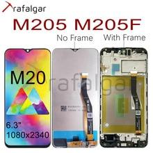 Pour SAMSUNG GALAXY M20 LCD affichage M205 M205F/DS M205FN/DS M205G écran tactile numériseur assemblée pour SAMSUNG M20 LCD avec cadre