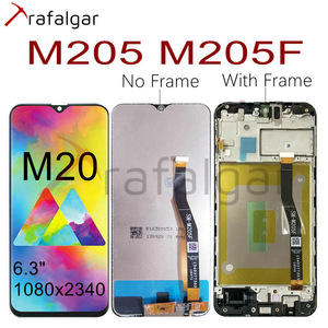 Image 1 - Voor Samsung Galaxy M20 Lcd Display M205 M205F/Ds M205FN/Ds M205G Touch Screen Digitizer Vergadering Voor Samsung m20 Lcd Met Frame