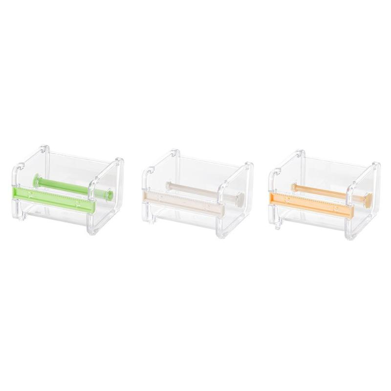 Durable Tape Dispenser Desktop Tape Cutter Stationery Storage Box Organizer