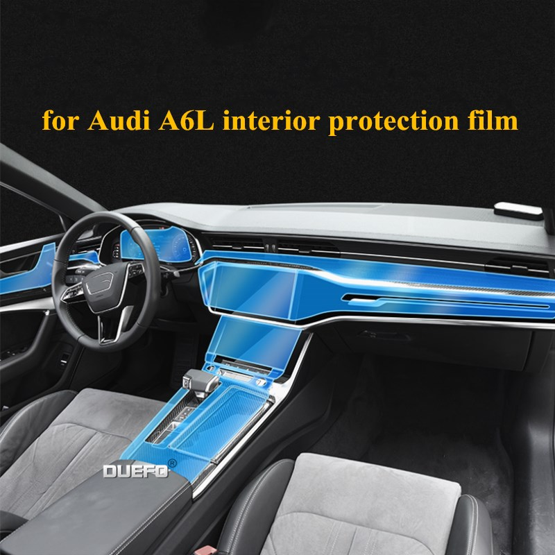 sticker For <font><b>Audi</b></font> A6L <font><b>A6</b></font> C8 2018 <font><b>2019</b></font> 2020 Central control protective film display protective film headlight protection film image