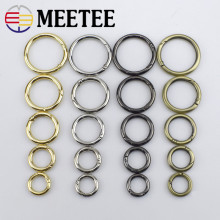 5pcs Spring O Rings Metal key ring buckles Belt Strap Dog Chain Buckles Luggage DIY Sewing handmade Bag Opening