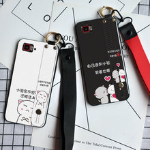 Cute Cate Silicone Case For Lenovo Vibe Shot Z90 S90 S850 P1m P2 P1 Wristband Back Cover For Lenovo Z2 Z6 Pro K920 Neck Strap(China)