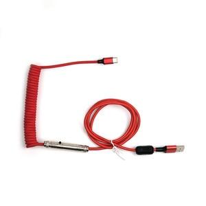 Image 2 - USB Metropolis спиральный кабель солнцезащитные очки авиаторы разъем Mechables Тип c свертываясь спиралью кабель клавиатуры для механической клавиатуры