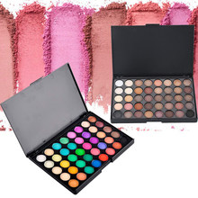 40 Warna Eyeshadow Pallet Hangat Warna Smoky Shimmer Makeup Palet Matte Banyak Warna Eye Shadow Palet Cap Pigmen TSLM1(China)