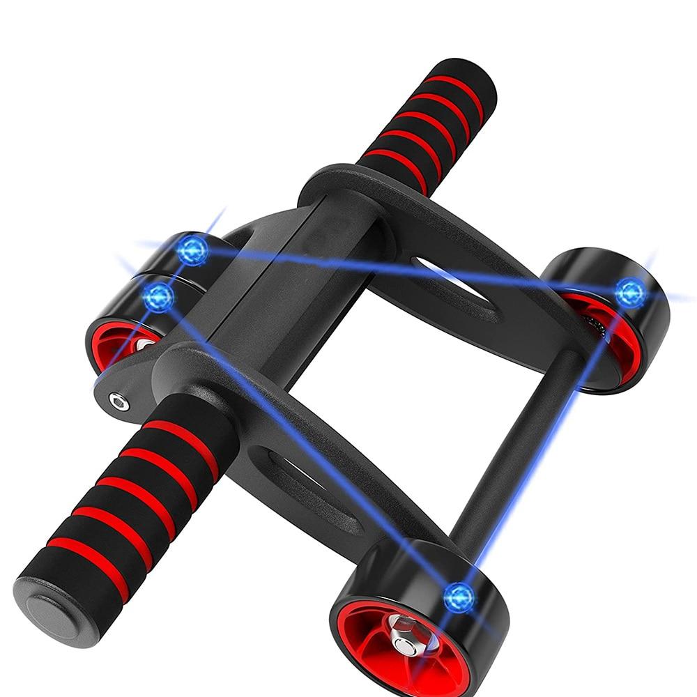 Two Wheeled Portable Abdominal Wheel Abdominal Muscle Wheel Portable Abdominal Wheel