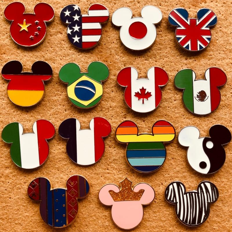 Disney Cartoon Badge Mickey Mouse Hoofd Kleding Decoratie Rugzak Pins Verwisselbare Badges Kawaii Kleding Badges Voor Kleding