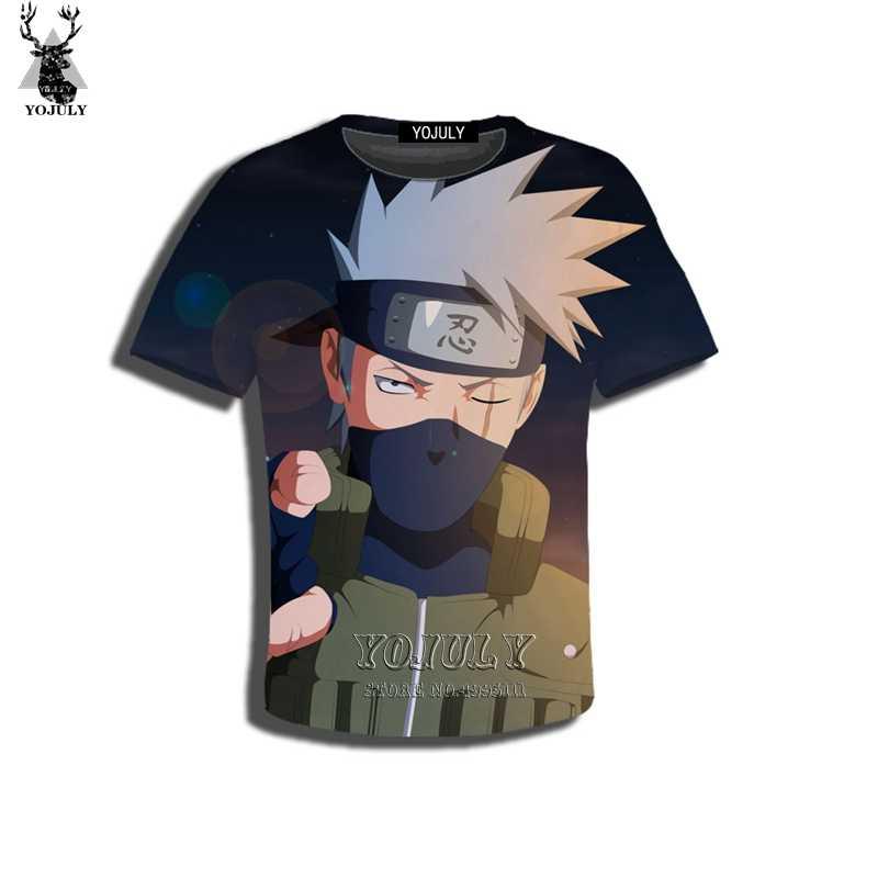 YOJULY 3D drukuj Kid Anime Naruto Uchiha Madara pszczoła Kakashi Nara Shikamaru dzieci Tshirt letnia koszulka chłopiec dziewczyna topy C80