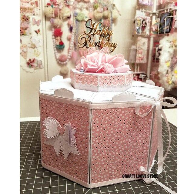 элегантная подарочная коробка в форме сердца металлическая пресс фотография