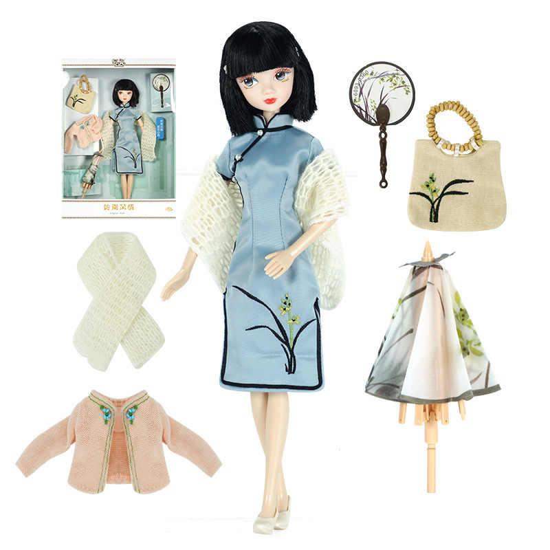1/6 3d olhos bjd boneca brinquedos com acessórios roupas sapatos saco chapéu figura articulações móveis corpo bonecas brinquedo para meninas presente com caixa