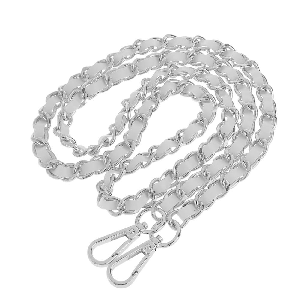 Metal + Leather Purse Shoulder Bag Chain Strap Handle Handbag Bag Chain Replacement 120cm