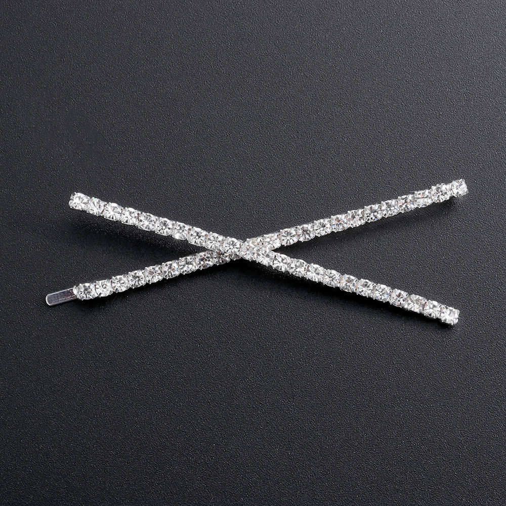 1PC Bersinar Huruf Crystal Rhinestone Rambut Klip Jepit Rambut Tongkat Logam Jepit Rambut Rambut Perhiasan Aksesoris Ya/Tidak/Miss /Bos/Queen