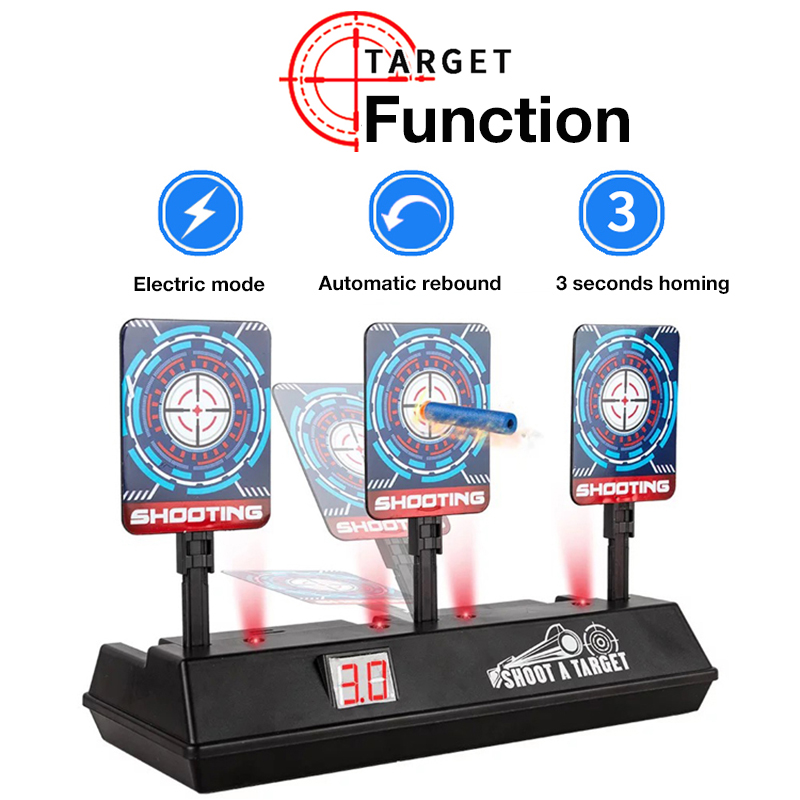 DIY gun Accessories High Precision Scoring Auto Reset Electric Target For nerf bullets outdoor Sports for kids