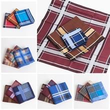 3Pcs/lot Square Multicolor Plaid Stripe Men Women Pocket for Wedding Party Business Chest Towel Handkerchiefs Scarves 43*43cm