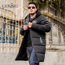 Gersri New Clothing Jackets Business Long Thick Winter Coat Men Parka Fashion Overcoat Outerwear Plus size XXL-6XL 7XL 8XL