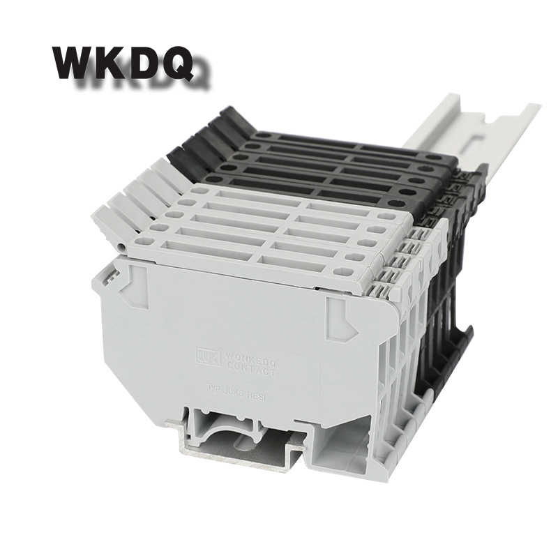 10 Pcs UK5-HESILED dengan Sekering dan LED Fuse Sekrup DIN Rail Terminal Block