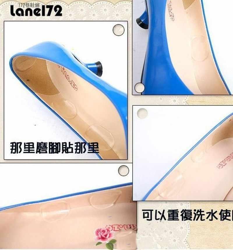 6 adet/levha Topuk Sapları Astar Ayak Bakımı Silikon Jel Ayakkabı Astarı Ekler Ped Yastık