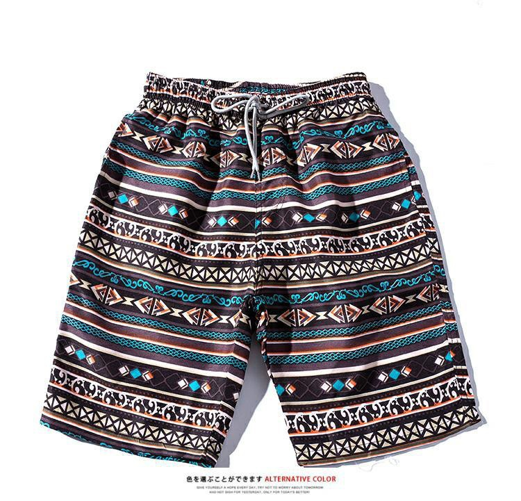 2019 Summer New Style Men's Casual Flower Shorts Europe And America MEN'S Beach Pants