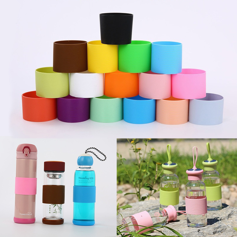 Silicone Ceramic Cup Sleeves Coffee Mug Wraps Sleeves Recyclable Heat Proof Glass Water Cup Sleeves Plumyl Cup Cover Home Tools