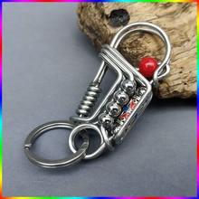 Personalized Waist Hanged Keychain Handmade Brass Stainless Steel Key Buckles Creative Gifts Unisex Fashion Car Key Case Wallet