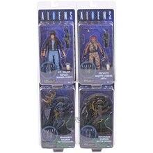 ALIENS Action Figure Ellen Ripley (Bomber Jacket) Private Jenette Vasquez (BDUs) Xenomorph Warrior (Battle Damaged) Model Toys