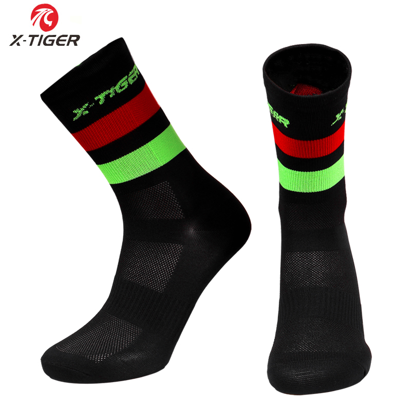 X-TIGER Cycling Socks Men Women Breathable Bicycle Socks Outdoor Racing Bike Compression Sport Socks Unisex MTB Bicycle Socks