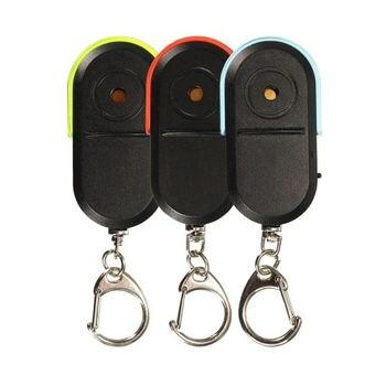 Wireless Anti-Lost Alarm Key Finder Locator Keychain Whistle Sound Led Light