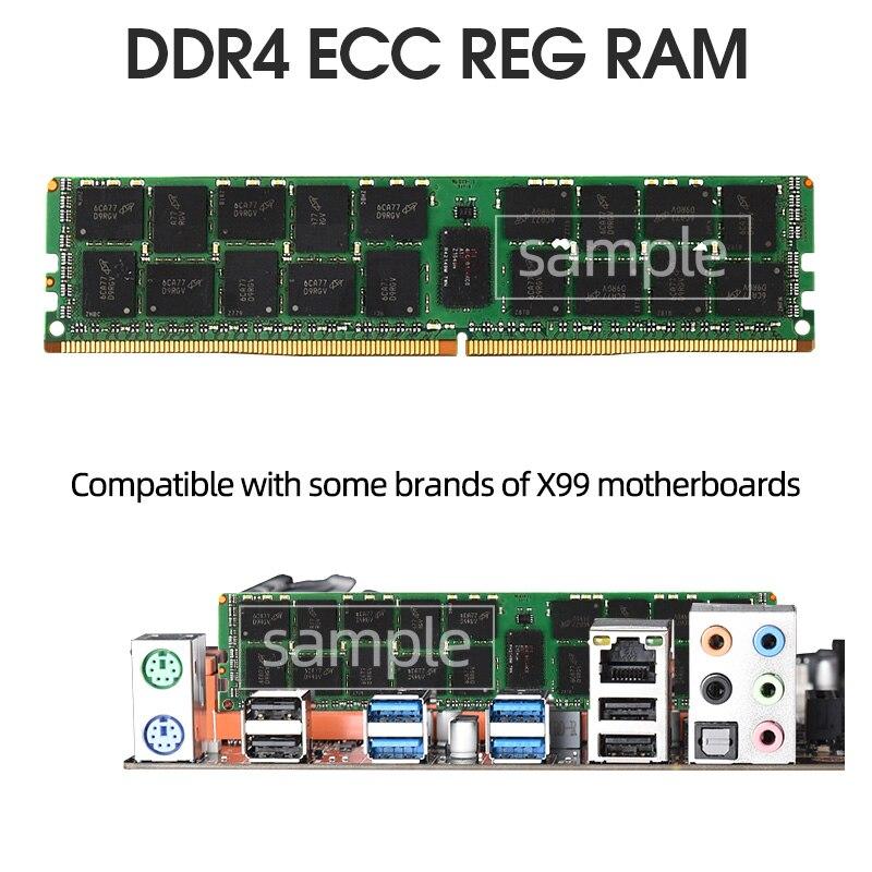 DDR4 32GB ecc reg ram 2133MHz 2400MHz 2666MHz PC4 RDIMM compatible 8GB 16GB 6