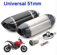 Universal 51mm Exhaust Motorcycle MIVV Muffler Escape Moto DB Killer Pipe Z800 Devil Monster 796 Modified Exhaust Pipe