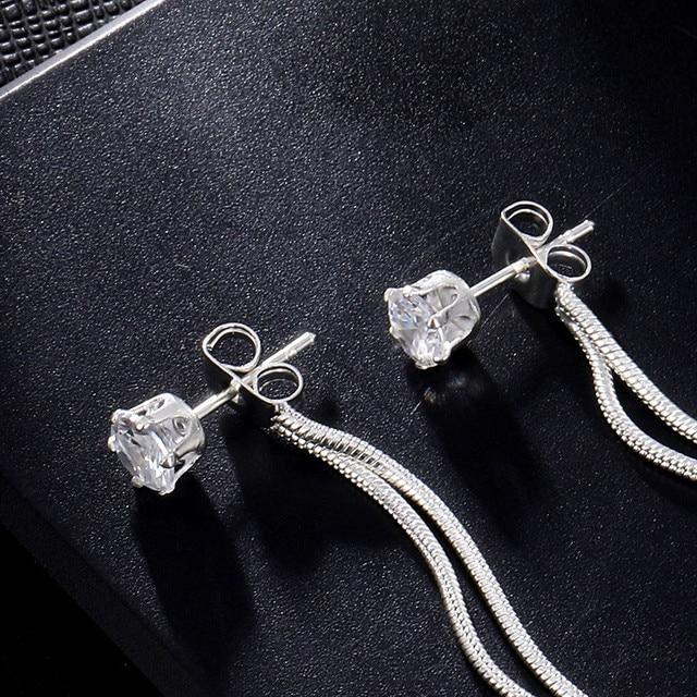 Long Snake Chain Earrings 5
