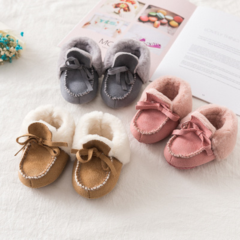 Newborn Baby Boots Winter First Walkers Tassel Baby Girls Shoes Fur Snow Super Warm Prewalkers Soft Sole No-slip Booties Booty
