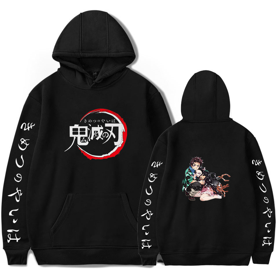 Demon Slayer: Kimetsu No Yaiba Print Pullover Hoodie Men/Women Winter Fashion Casual Popular Soft Hooded Sweatshirt Hot Sale