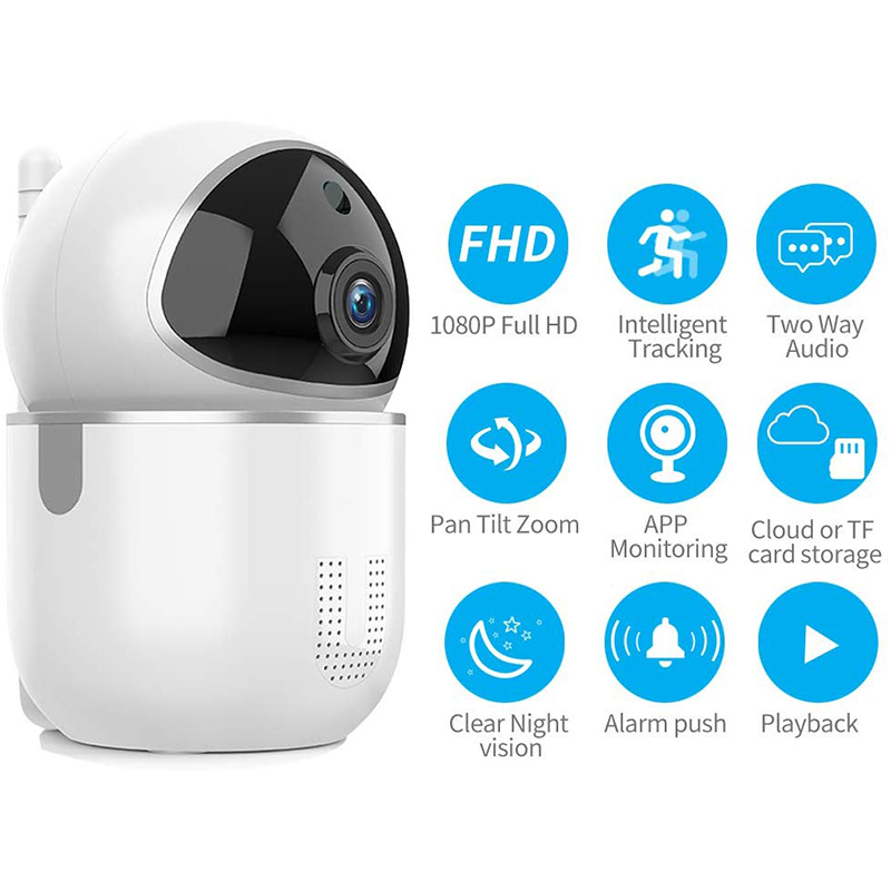 Image 2 - 1080P Cloud IP Camera Baby Monitor Intelligent Auto Tracking Surveillance Home Security Wireless WiFi CCTV Baby Monitor Camera