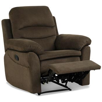 Fotel rozkładany fotel pojedyncza Sofa fotel sypialny w podnóżek szary brązowy HV10010 tanie i dobre opinie CANBOUN Nowoczesne CN (pochodzenie) 2000mm Microfiber Iron Sponge 37 x 35 x 41 (L x W x H) Sofa do pokoju dziennego