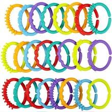 8 Cái/bộ Nhựa Cầu Vòng Rainbow Bé Đồ Chơi Cho Bé Miếng Dán Núm Vú Giả Trẻ Sơ Sinh Lục Lạc Cao Su Cũi Đồ Chơi Xe Đẩy Đồ Chơi Treo Trang Trí Phòng