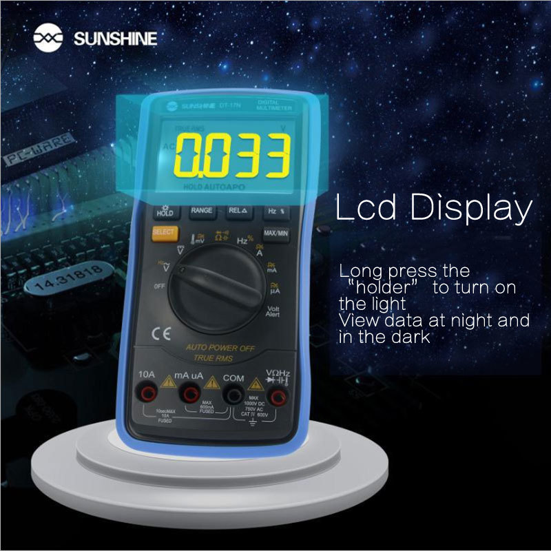 home improvement : DT-17N high precision lcd display Digital Multimeter 35 6 automatic instrument AC DC voltage current resistance measure