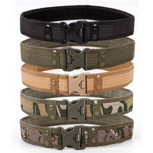 Cinturones de combate de estilo militar para hombre, cinturón táctico de liberación rápida a la moda, cinturón de tela para caza al aire libre, 9 colores opcionales, 2020 cm, nuevo de 130
