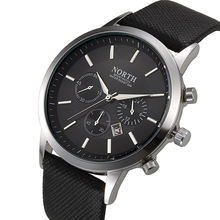 Северная Марка Модные черные мужские часы классические повседневные