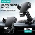 Беспроводное зарядное устройство Qi, 15 Вт, автомобильный держатель-подставка для телефона, интеллектуальное инфракрасное зарядное устройст...