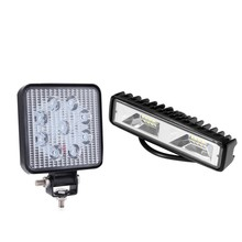 2 Pcs LED Work Light For Suv Car Truck Boat: 1 Pcs 48W Lamp Driving Fog Offroad 4Wd For Atv & 1Pcs 4 Inch 27W 12V 24V Spot Flood(China)